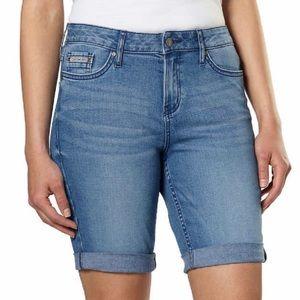 Calvin Klein Bermuda Jean Shorts Ladies Denim Blue